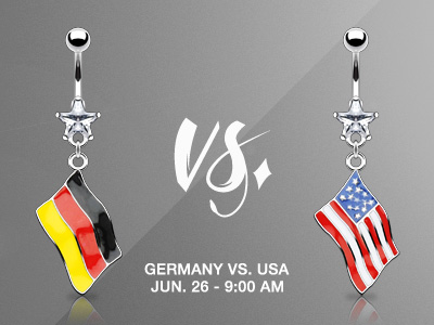 World Cup Flag Navel Rings