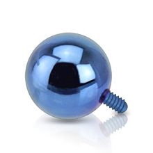 Titanium IP Internally Threaded Ball Dermal Top