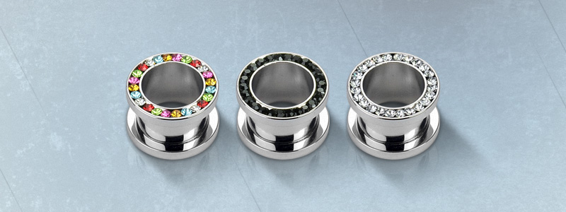 stainless steel plugs by Hollywood Body Jewelry