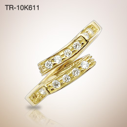 10KT. Gold Solitaire CZ Toering