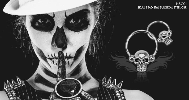 Skull Bead 316L Surgical Steel CBR