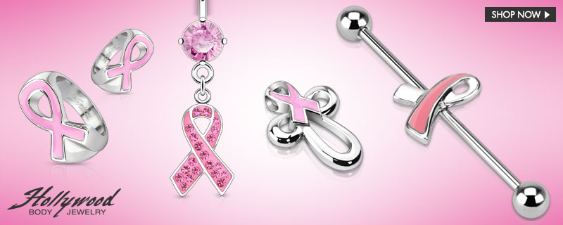 Breast Cancer Awareness Month by Hollywood Body Jewelry