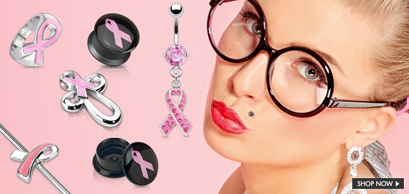 Best Sellers Breast Cancer Pink Ribbon by Hollywood Body Jewelry