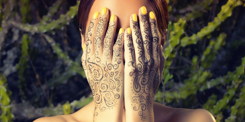 full hand henna tattoo
