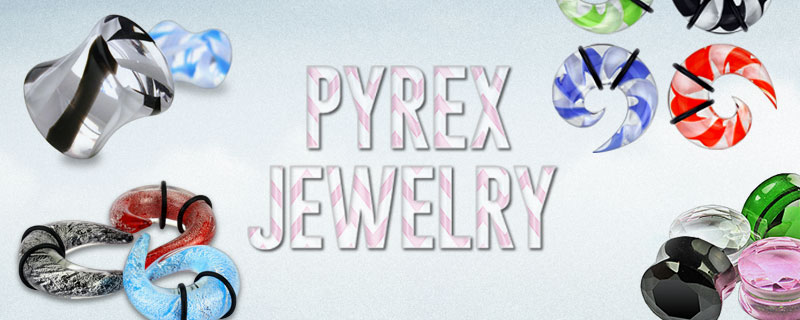 pyrex body jewelry