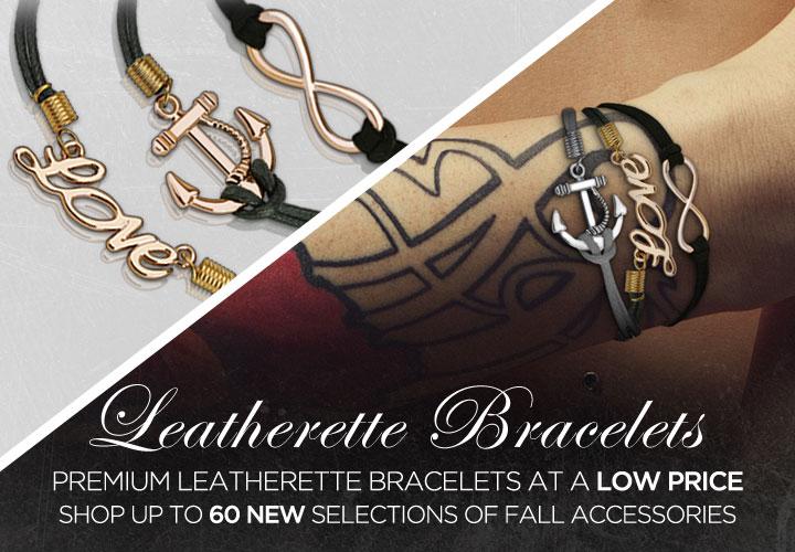 leatherette bracelets