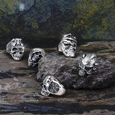Skull Rings Jewelry