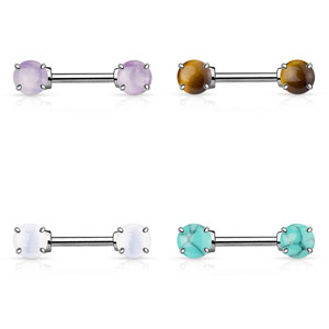 Semi Precious Stone Prong Set